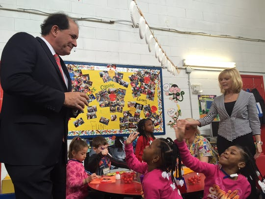 State Sen. Joseph Vitale toured the Children's Center for Learning in South Amboy on Monday. He also participated in a discussion on the need to expand pre-K programs in the state.