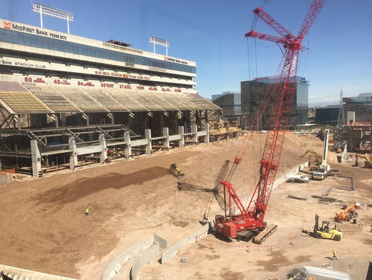 Sun Devil Stadium contruction