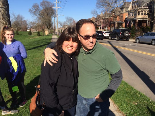 Wendy Marano (left) of Maple Shade recently met her younger brother, Mike Wachsman (right) for the first time, after Ohio opened the birth records of adoptees The biological siblings discovered they share a common love of the written word and sports.