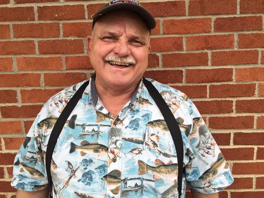 Dwight Gates, 67, of Nixa, Missouri, is a marshal in this weekend's Bassmaster Elite Series tournament at Bull Shoals and Norfork lakes.