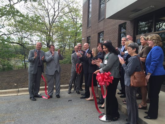 Members of the community took part in a ribbon cutting for the C3356 Comprehensive Care Center on Biltmore Avenue.