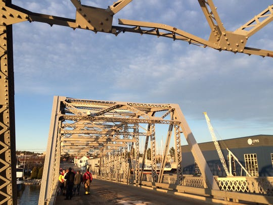 Damage to a beam on Sturgeon Bay's Michigan Street