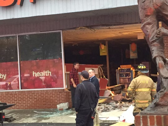 A Honda SUV crashed into a CVS in Yorktown Heights