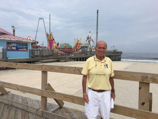 Seaside Heights Mayor Anthony Vaz on the boardwalk near Casino Pier.