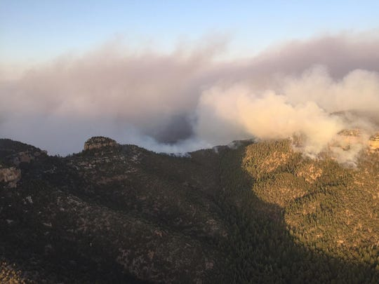 The Juniper Wildfire is burning in the Tonto National