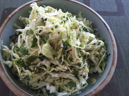 Alice Waters' coleslaw with cilantro and lime juice