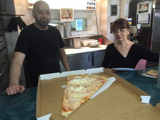 Pizza Barn owner Angelo DeLuca and his mother, Connie