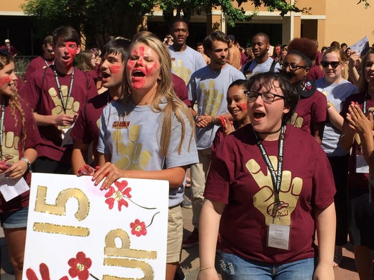 Students participate in PREP Spirit competition Thursday