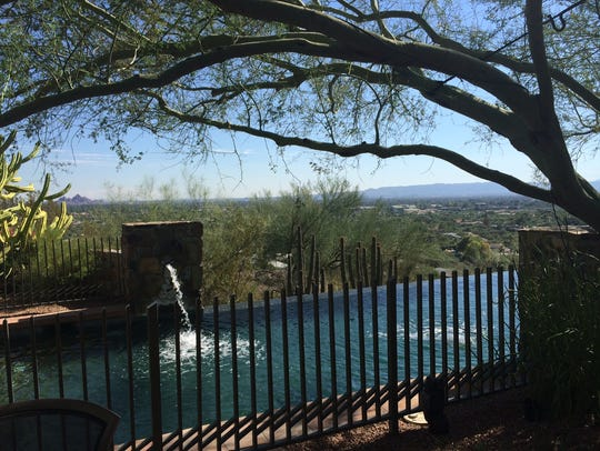 The pool at the Barry Goldwater home in Paradise Valley