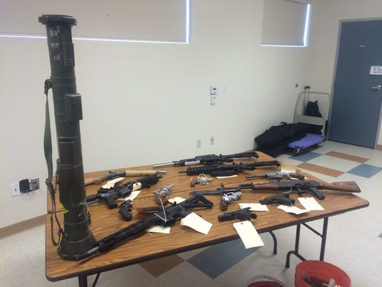 An arsenal of weapons were confiscated during the investigation