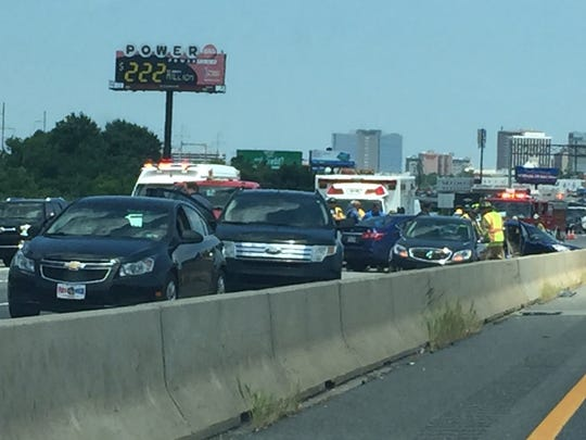 A serious crash on I-95 SB south of Frawley Stadium delayed traffic Monday afternoon.