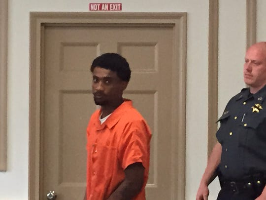 Tyrell Lansing, a suspect in two shootings in Victory Gardens, in Superior Court, Morristown, on July 1, 2016.
