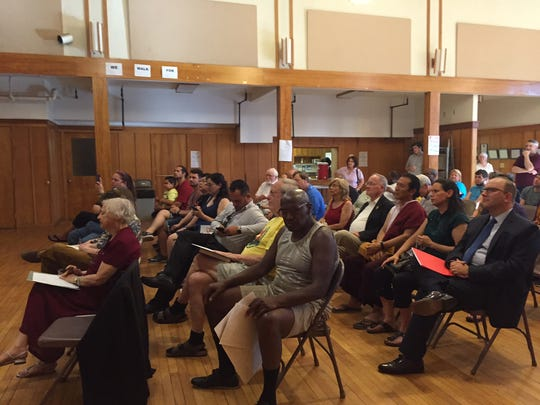 A group gathered at Reformed Church of Highland Park on Wednesday to call for solitary confinement reform.