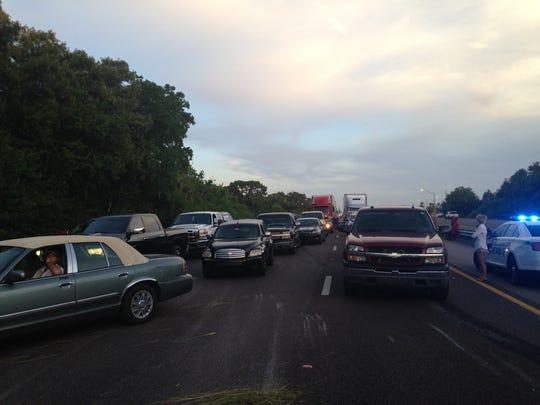 Traffic is at a standstill on I-95.