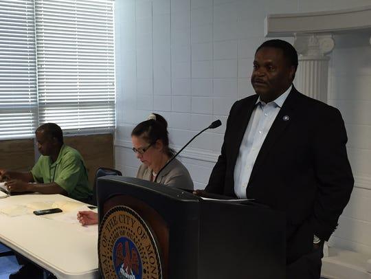 Monroe Mayor Jamie Mayo discusses bridge projects in