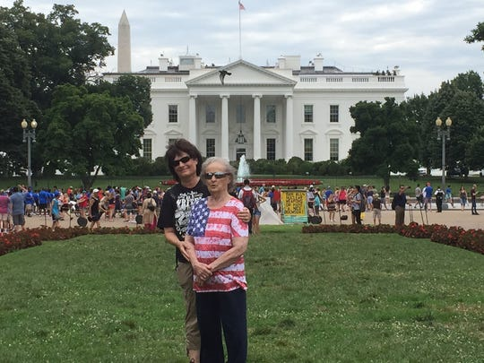 Britt Kennerly and her mom, Helen, at the White House.
