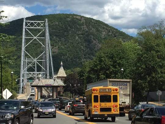 Bear Mountain Bridge becomes more congested as drivers find alternative routes across the Hudson River when the Tappan Zee Bridge was closed on July 18, 2016.