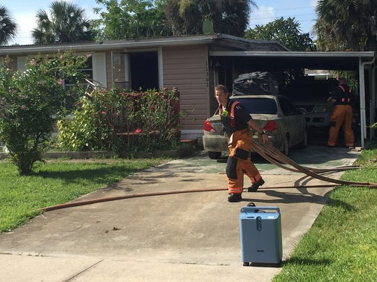 A Bonita Springs home was gutted by fire started by a cigarette Thursday morning.