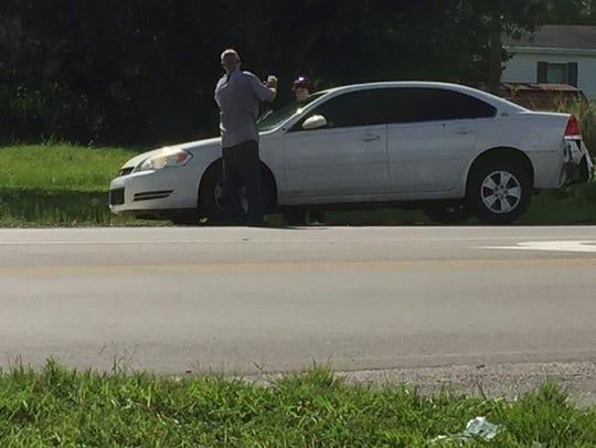 The crime scene at Luckett Road and Ortiz Avenue involved