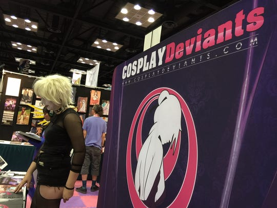 The Cosplay Deviants booth at Gen Con 2016, where models