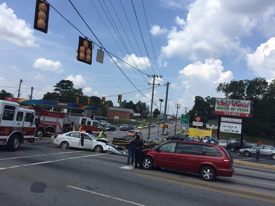 A deputy was involved in a wreck in Greenville County.