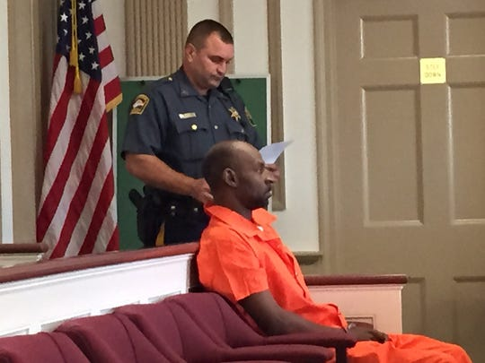 Robbery suspect Michael Reed in Superior Court, Morristown, on Aug. 8, 2016.