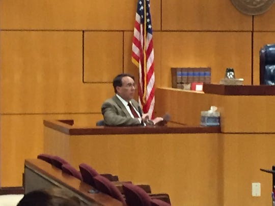 Christopher Hall testifies at a sentencing hearing at the Brevard County Courthouse in Viera on Thursday afternoon.