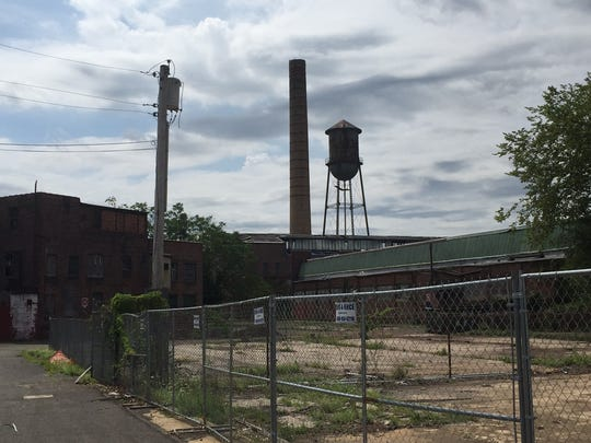The former home of the Michelin Tire Co. in Milltown is being demolished.