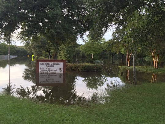 Vermilionville was under water in August when the Vermilion River flooded.