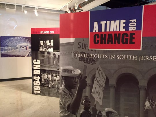 The entrance to 'A Time for Change,' an exhibit at
