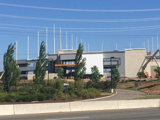 Construction continues at Topgolf in Edison.