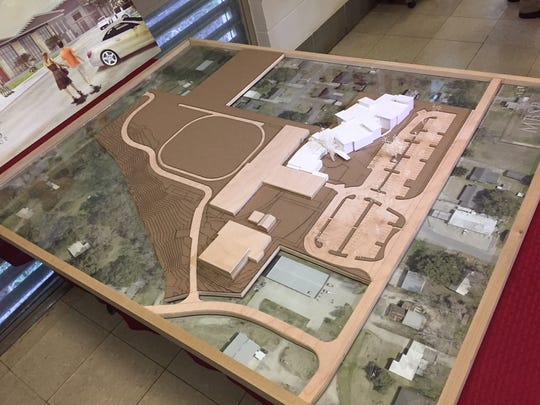 This model shows the plans for the Milton Elementary/Middle School expansion.