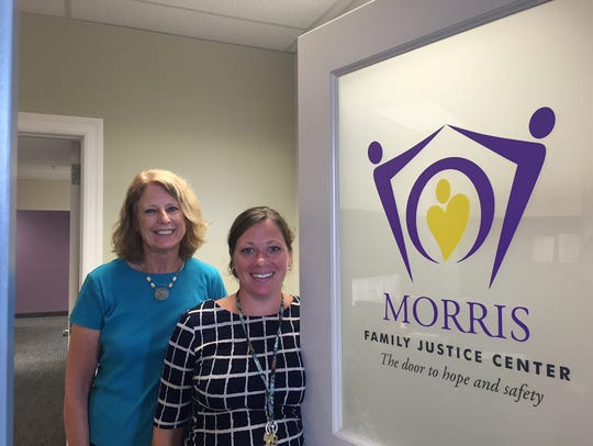 From left, Morris Family Justice Center Director of
