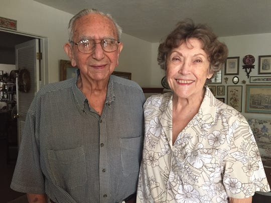 Howard and Gloria Mendoza at their home in Indio on Aug. 25, 2016.