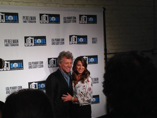Jon Bon Jovi and Dorothea Bongiovi in New York City Thursday, Oct. 6.