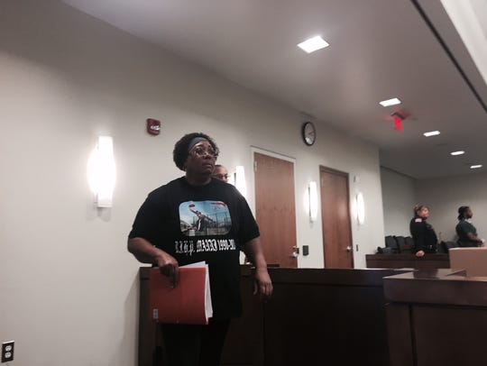 Adrienne Anderson appears in Superior Court in Freehold
