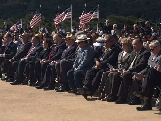 Elected officials at California Central Coast Veterans Cemetery opening