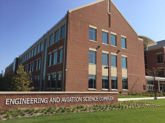 This Oct. 19, 2016 photo shows the entrance to the UMES Engineering & Aviation Science Complex that was dedicated on Oct. 19.