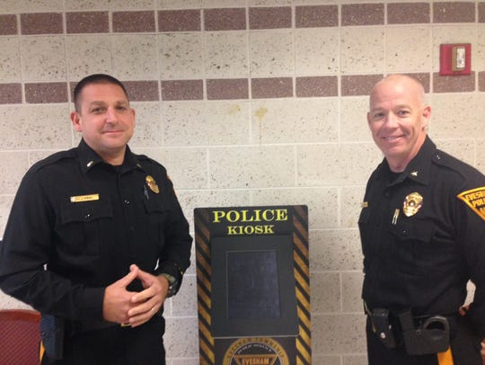 Evesham Police Lt. Joseph Friel (left) and Chief Christopher