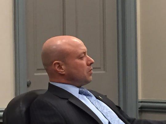 Randolph Police Chief David Stokoe at a trial on a discrimination lawsuit against the township on Oct. 31, 2016.