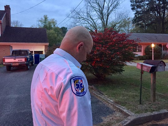 In picture, Michael Donaway of the Salisbury Fire Department