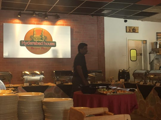 The lunch buffet is available daily at the new Hyderabad House at 4621 Ogletown-Stanton Road, near Newark.