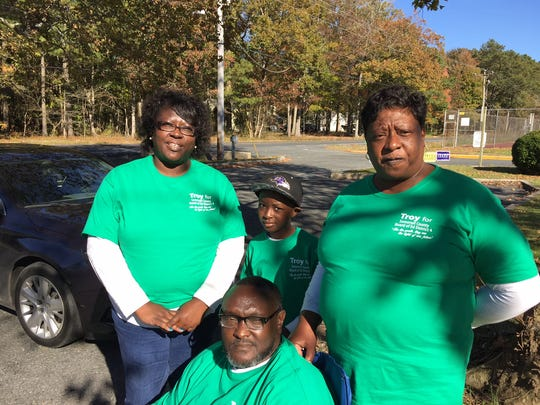 Supporters for hopeful Troy Brittingham Jr., the District