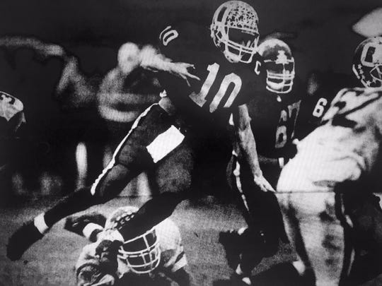 Ocean's Eddie Conti picks up yardage against Long Branch in the 1993 Central Jersey Group III final.
