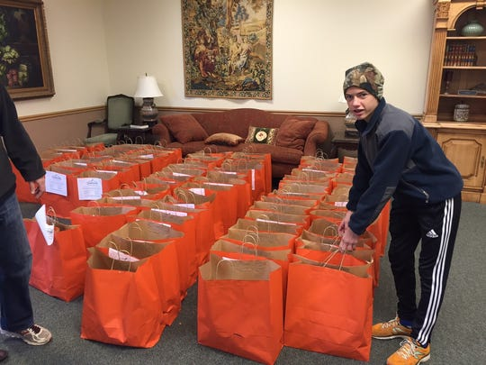 Last year, members of First Presbyterian Church sacked 175 bags full of ingredients to make Thanksgiving dinner. This year, the grocery sacks - along with a turkey - will be delivered to hungry people identified through agencies like Straight Street, Faith Mission and Faith Refuge and schools such as Ben Franklin Elementary.