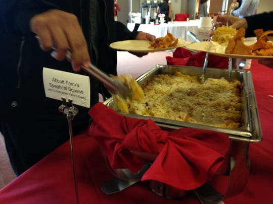 Local food was served at Muncie's first Local Food Summit at Ball State University's Alumni Center.