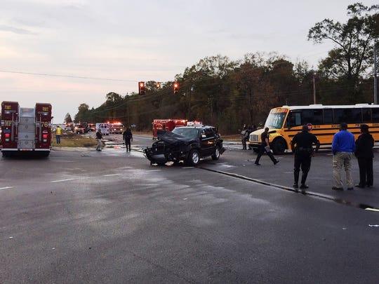 A five-vehicle crash left several injured Wednesday,