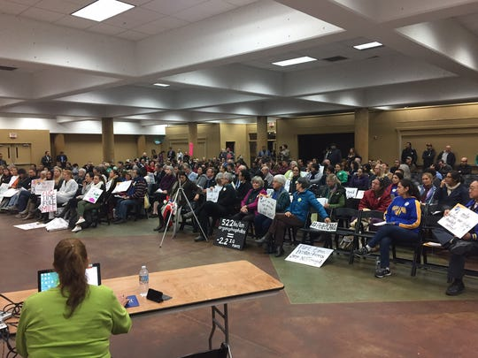 Audience in attendance at public hearing.