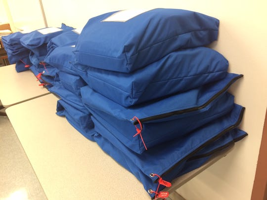 Door County ballots waiting to be hand counted.