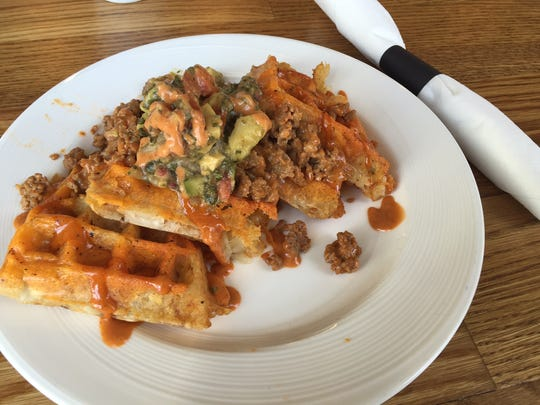 The loaded tater tot waffle from Press in Newport